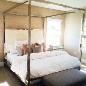 Adult Canopy Beds Inspirational Silver Metallic Canopy Bed Thick Posts Want Black or Grey