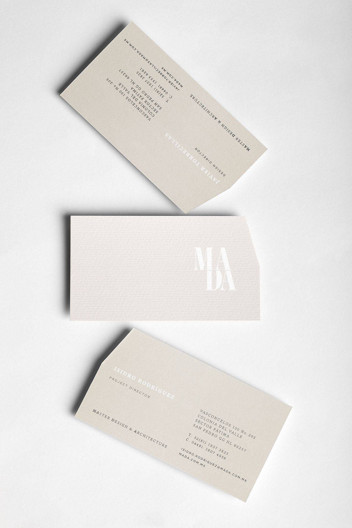 Architect Business Card Fresh Mada On Behance