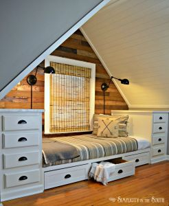 Attic Spaces Elegant How to Make A Built In Bed Using Kitchen Cabinets