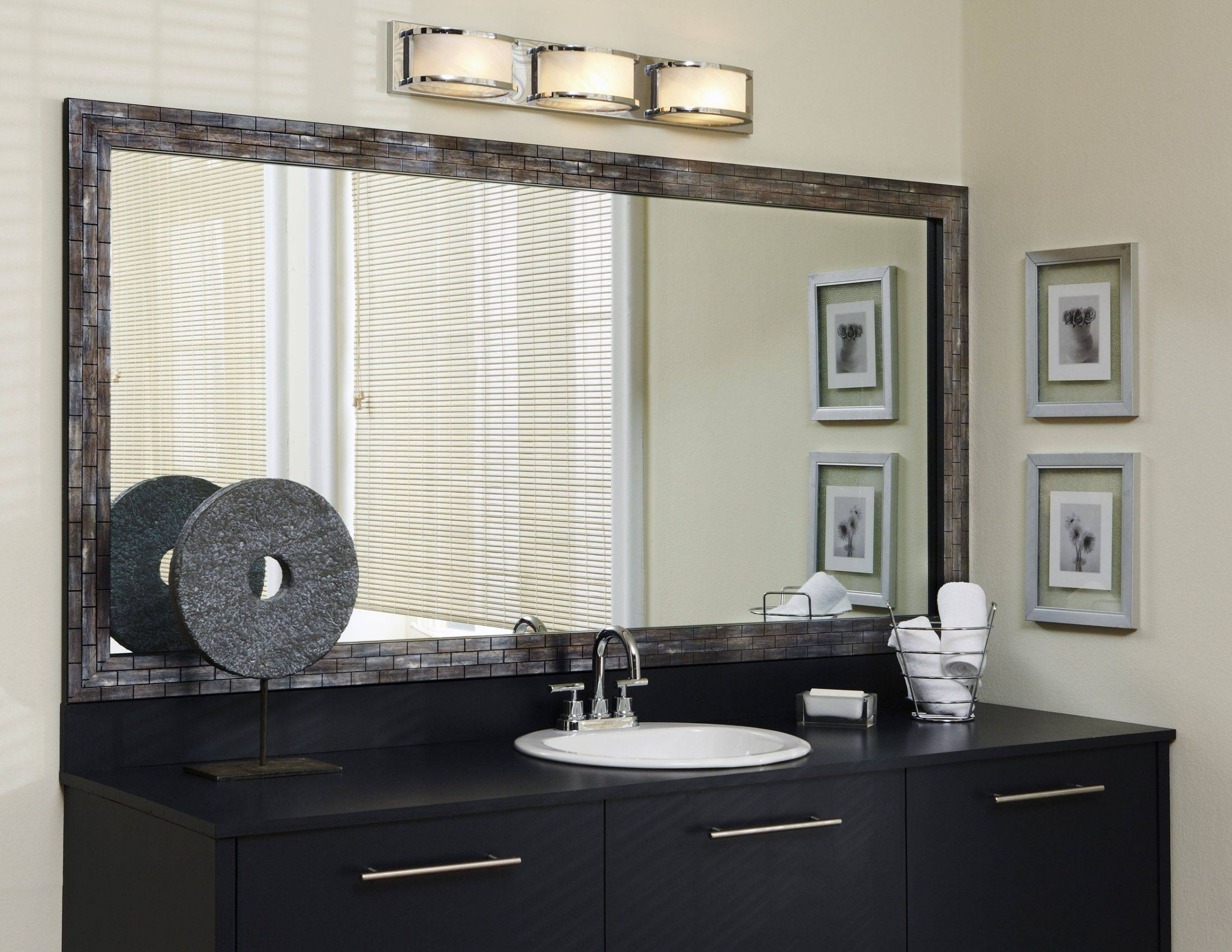 Bathroom Mirrors Luxury Lexington Metallic ash Frame