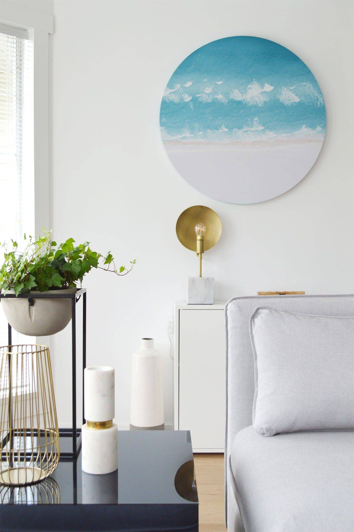 Beach Home Decor Inspirational Round Beach Art Interior Design