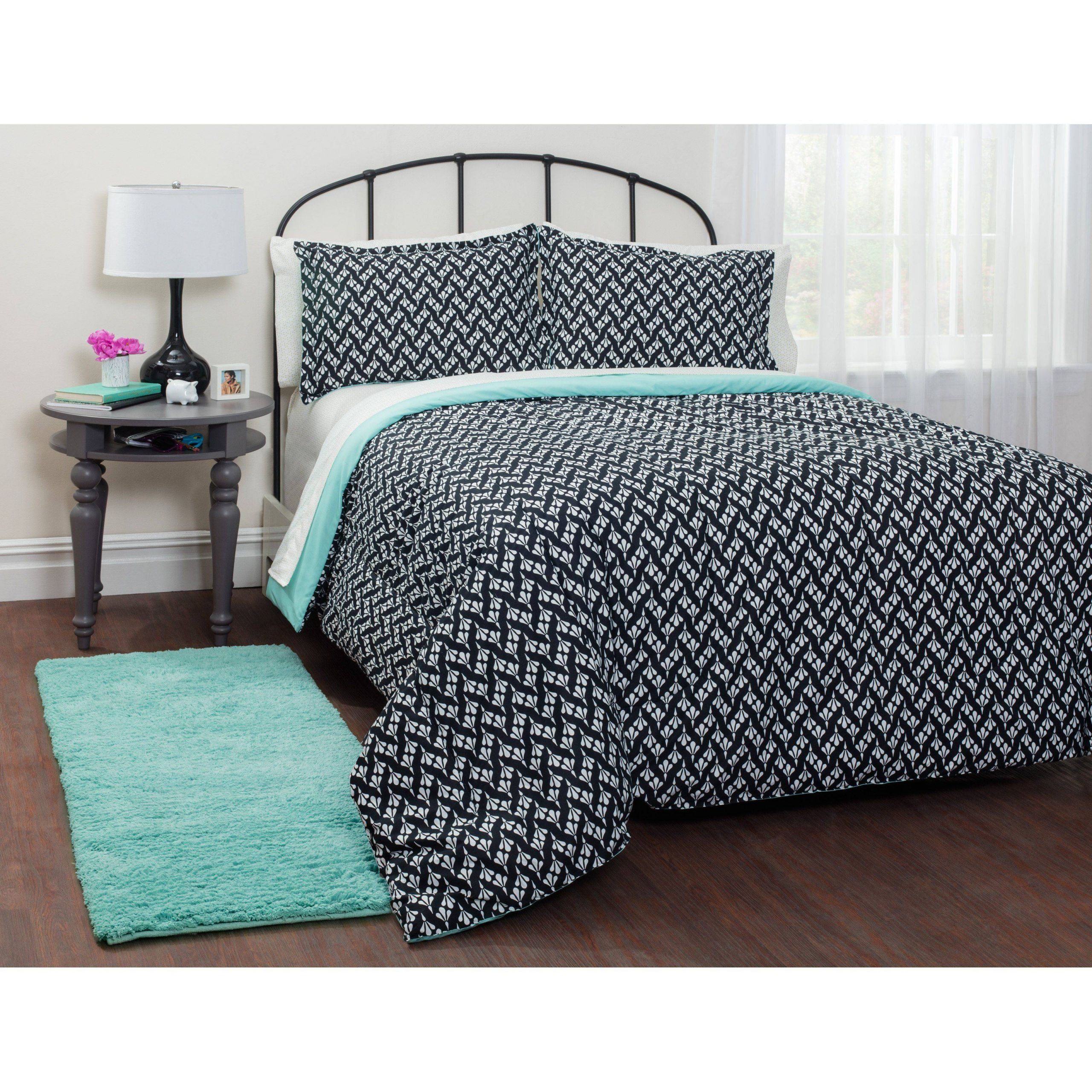 Bedding In A Bag Luxury Mint Motif Bed In A Bag by Your Zone Wk In 2019