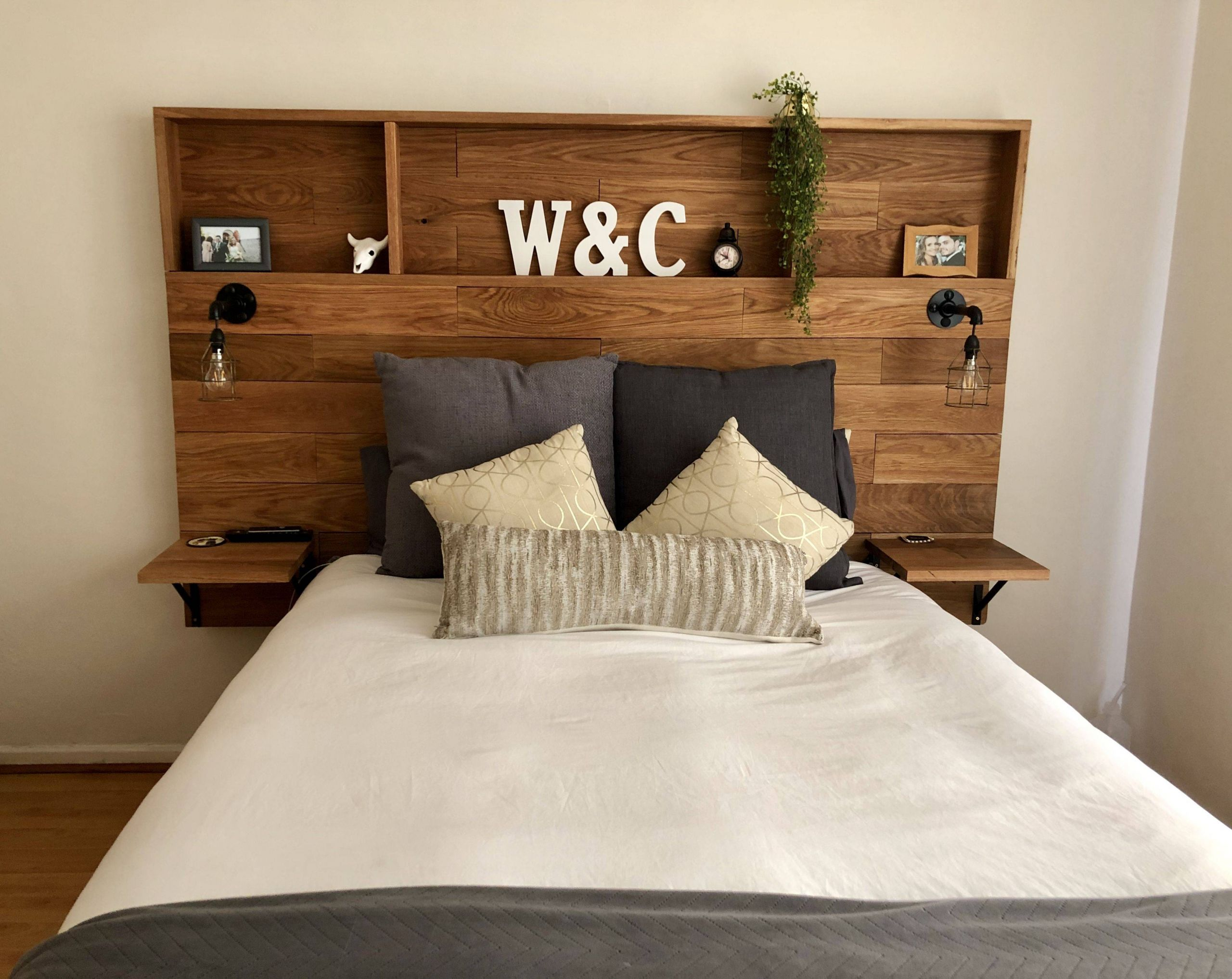 Bedroom Headboard Ideas Lovely Love This Wooden Headboard with Shelves My Husband Made for
