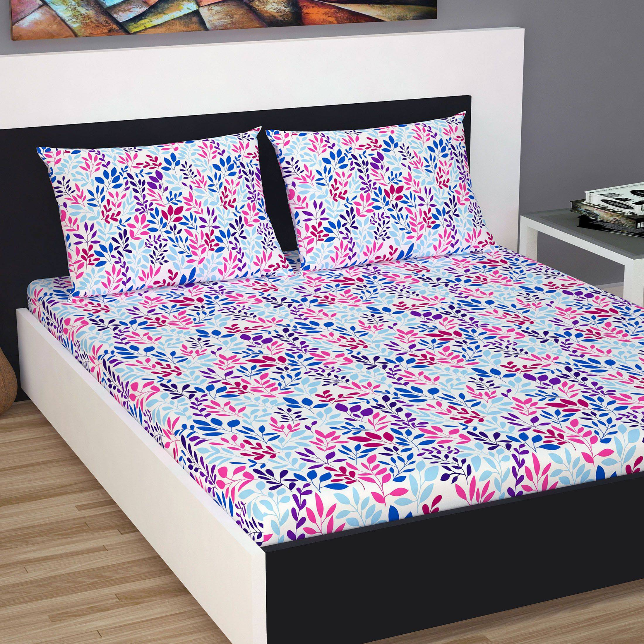 DIVINE CASA Cotton Double Bedsheet SDL 1