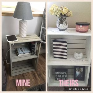 Bedside Table Ideas Beautiful Love This Night Stand End Table Made Of Crates Diy