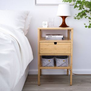 Bedside Table Ideas Lovely Ikea nordkisa Bamboo Nightstand In 2020