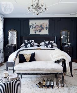 Black Accent Wall Inspirational Bedroom