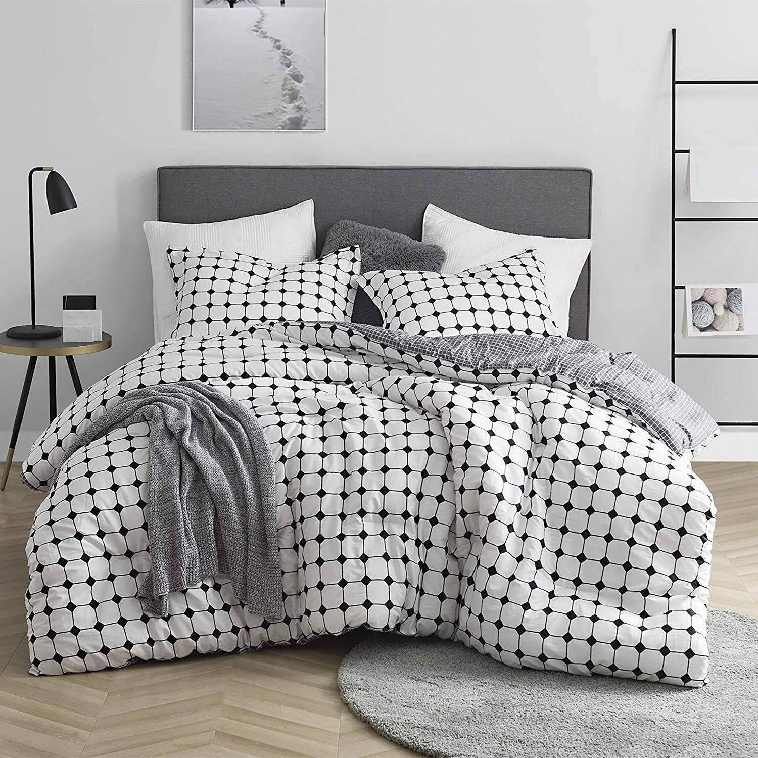 Black and White Comforter Set Unique Moda Black and White Striped Oversized forter 100