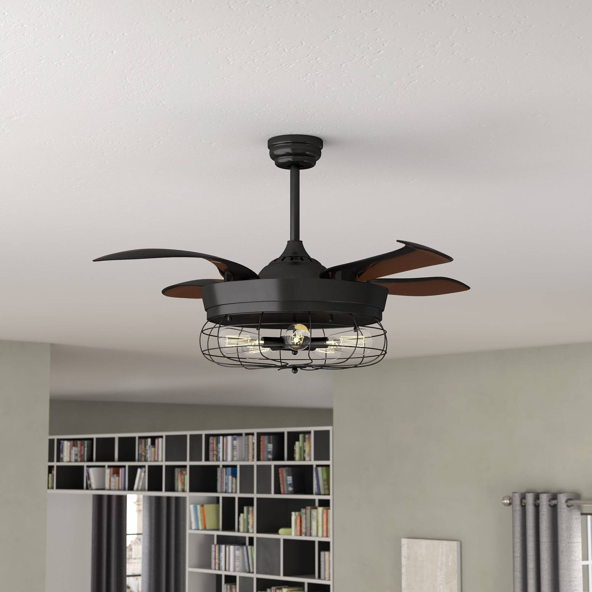 46 benally 4 blade ceiling fan with remote light kit included