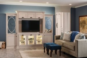 Cabinet Design for Living Room Lovely An Entertainment Center Finished In Kraftmaid S Chai Paint