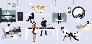 Career In Interior Design Inspirational Flat Vector People & Furnitures for Architecture & Interior