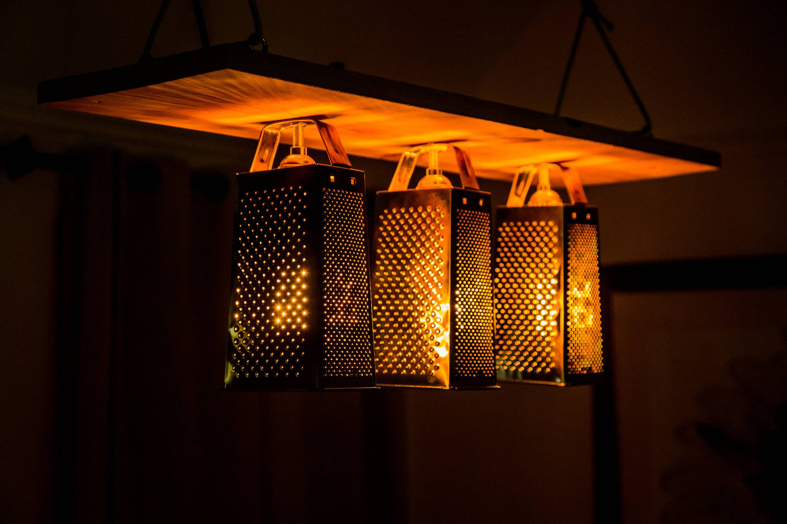 home family diy cheese grater lights