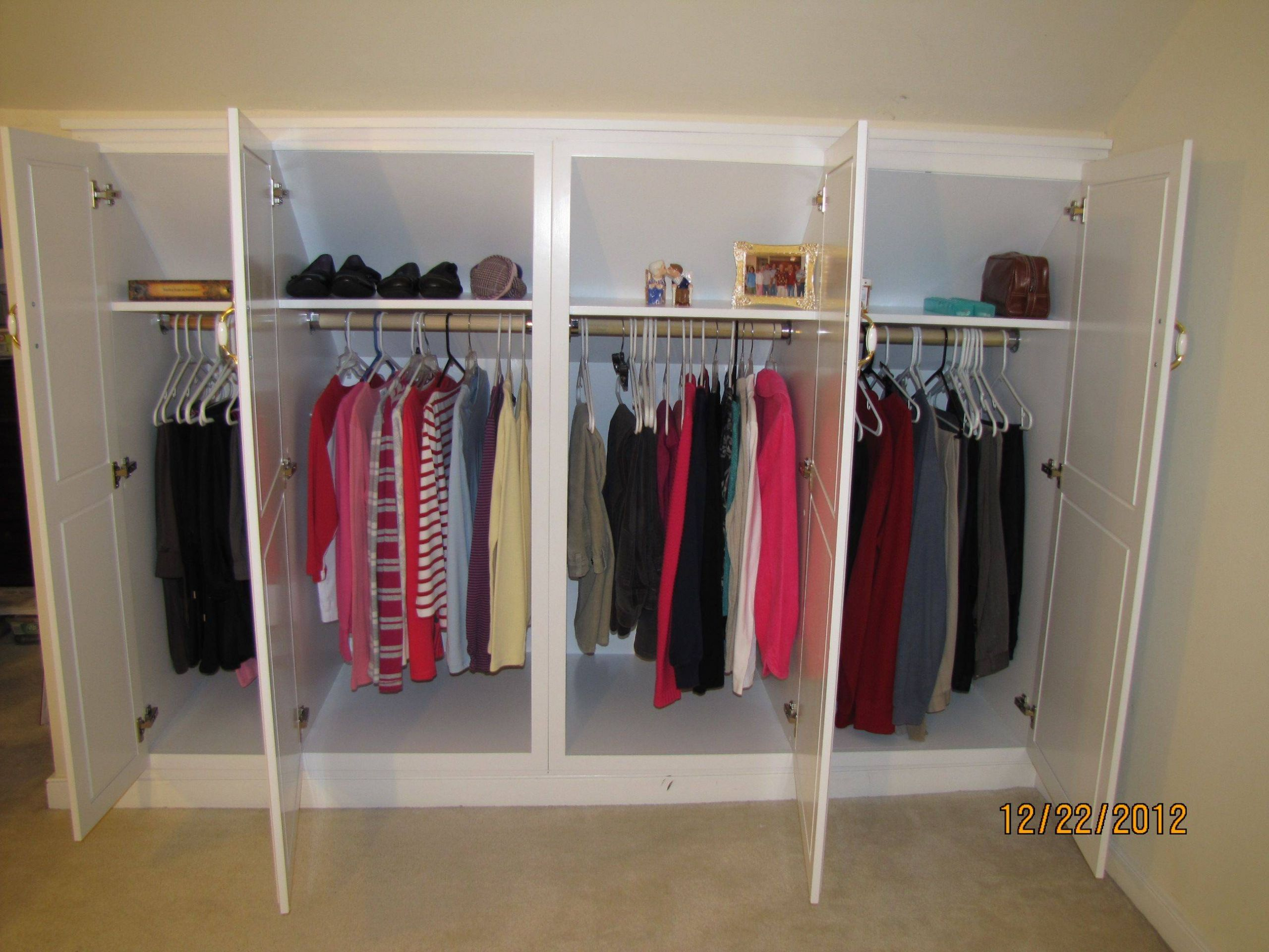 Closet Storage Ideas Inspirational Wardrobe Knee Wall Cabinets