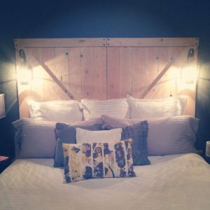 Cool Headboard Elegant Diy Rustic Headboard with Lanterns My Hubby Made This for