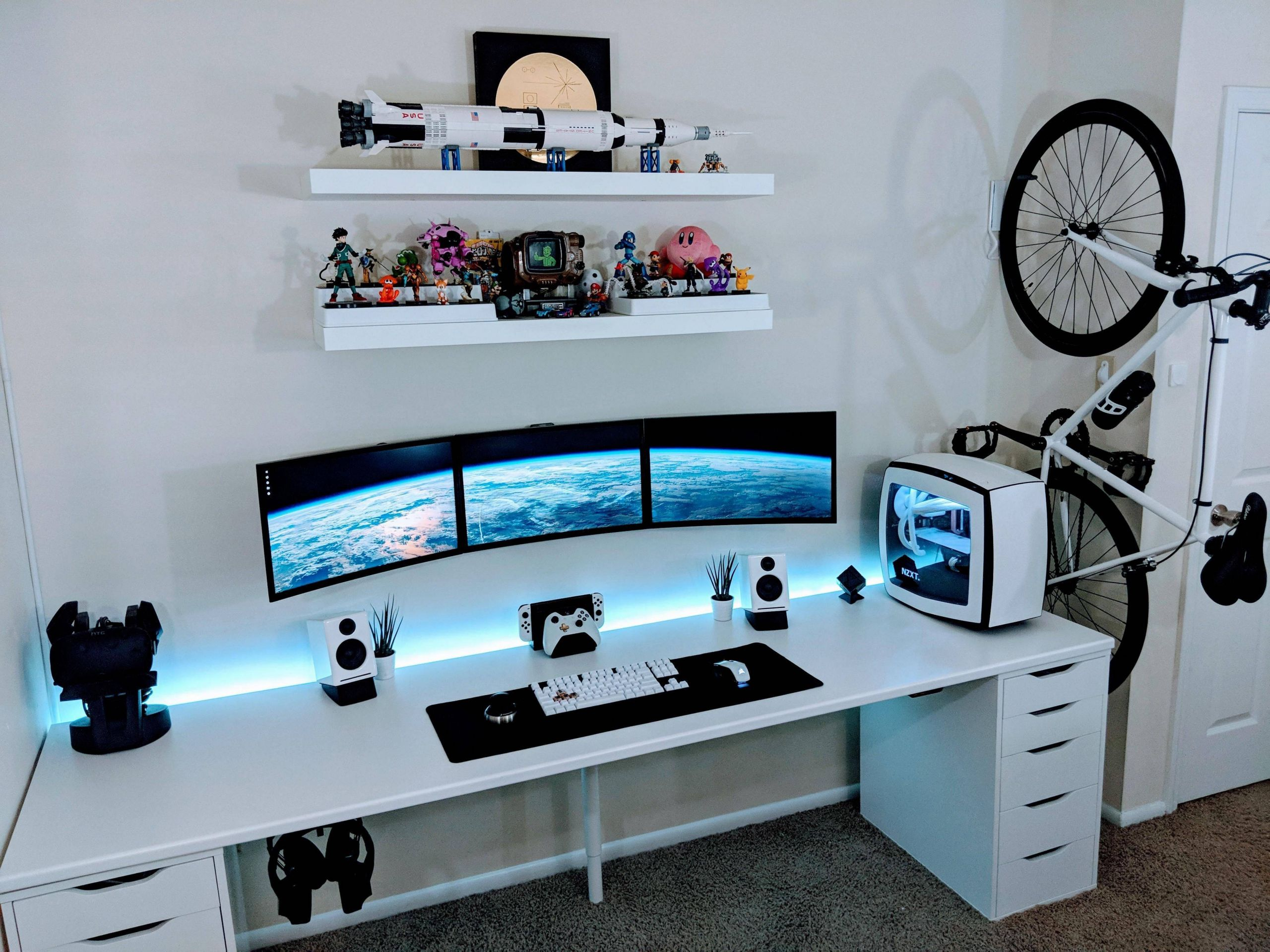 Coolest Desk Lovely 30 Best Play Room Design Ideas for Expert Gamers solutions