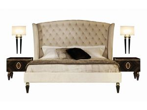 Crazy Beds New Double Bed with Tufted Headboard Kesy by Capital Collection