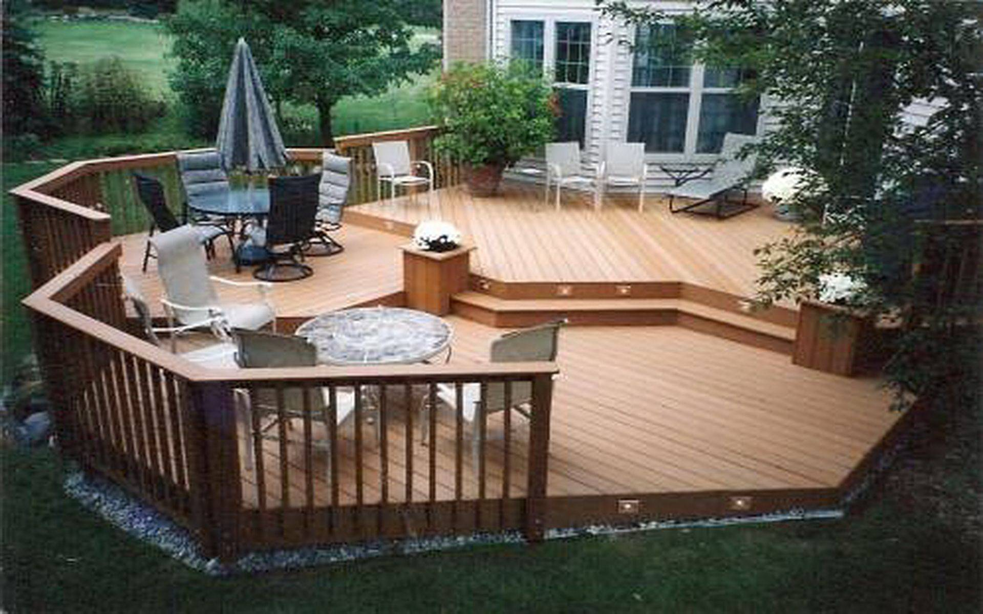 front deck ideas how to build a 12x12 backyard designs 8x8 plans pictures stone hot tub surround trex designer ground level decks fire pits small yard design
