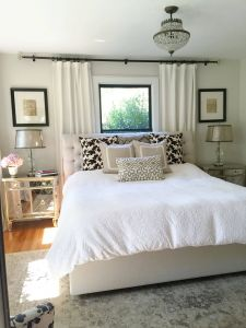 Decorate Small Bedroom Lovely Neutral Bedroom Window Behind Bed Bedroom Window