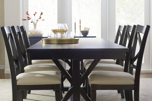 Dining Room Chairs Inspirational Everyday Dining Trestle Dining Table with Leaf and 6