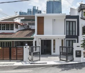 Exterior Home Design Awesome Modern Malaysian Terrace House Exterior Design