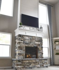 Fireplaces with Stone Beautiful Diy Fireplace with Stone & Shiplap
