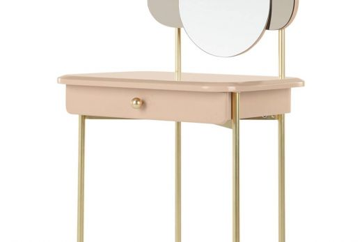 Heavenly Dressing Table Gold Framed Round Mirror From Habitat Lovely Made Dressing Table Pink & Brass New Mad From Made