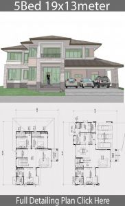 House Layout Ideas Best Of Home Design Plan 19x13m with 5 Bedrooms