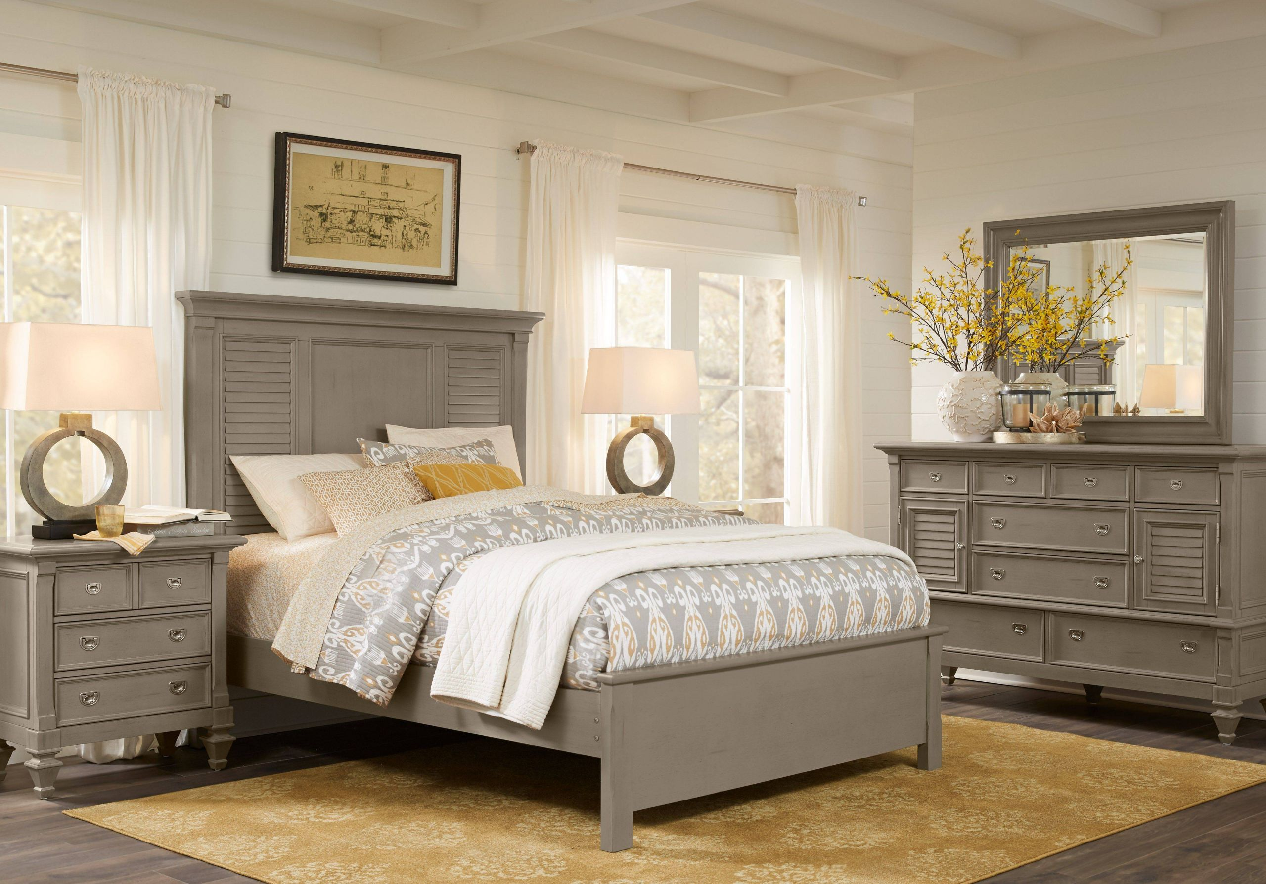 King Size Bedroom Sets Beautiful Belmar Gray 5 Pc King Bedroom