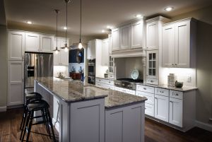 Kitchen Ideas with island Fresh Kitchen Counter Design In White Furnished with Black High