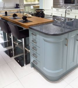 Kitchen island Designs Unique Contemporary Kitchen island Design In Blue with Curved