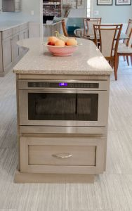 Kitchen island Plans Beautiful Kitchen island Built In Microwave Extra Storage and Prep