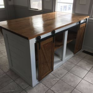 Kitchen islands with Seating Best Of Custom Shiplap Kitchen island with Sliding Barn Doors and
