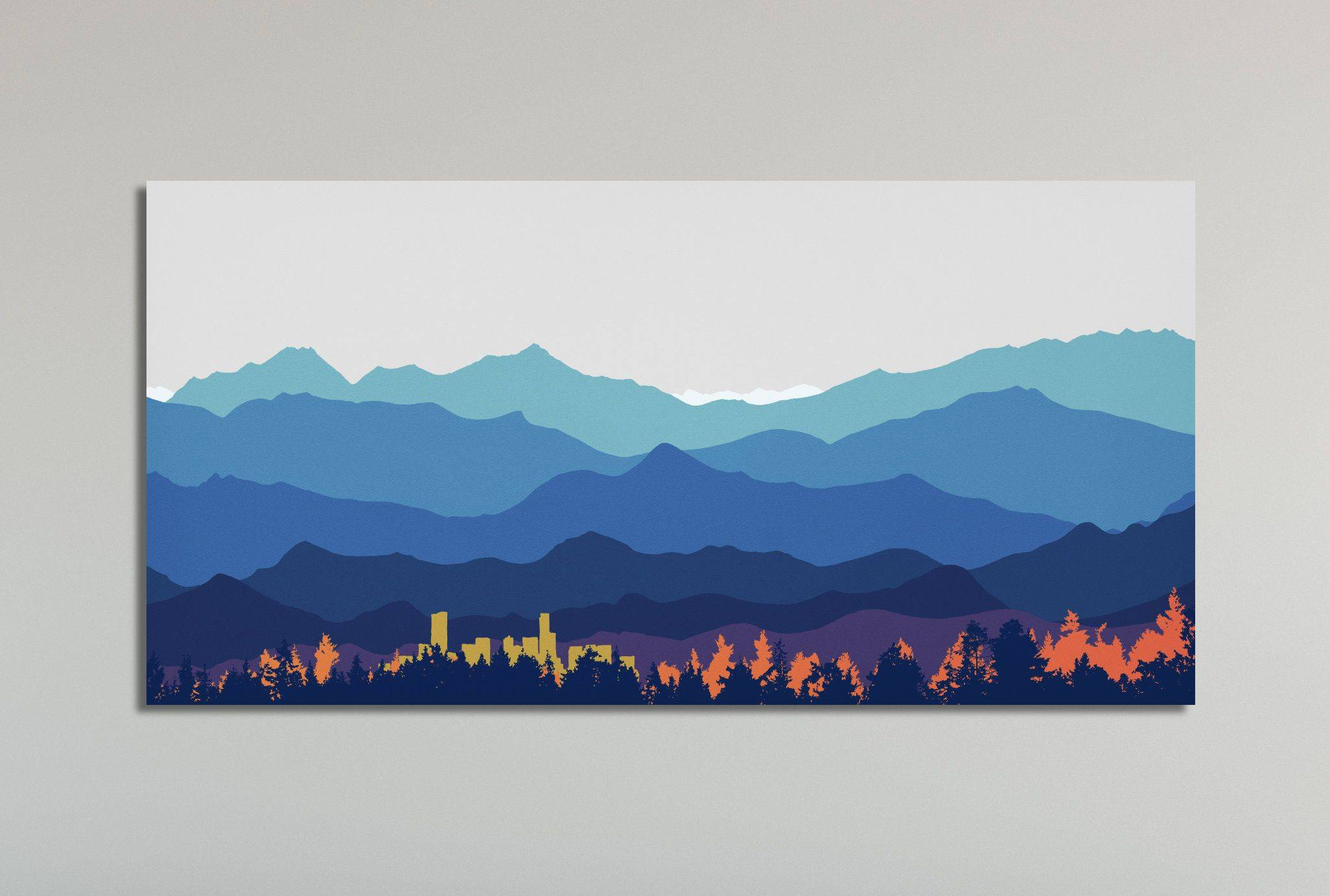 Living In the Mountains Lovely Wall Art Ready to Hang Mountain Wall Art Denver