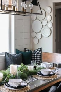 Living Room Centerpieces Awesome Christmas Table Setting In the Breakfast Nook