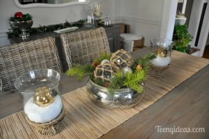 Living Room Centerpieces Lovely Christmas Dining Table Centerpiece Mercury Glass Bowl with