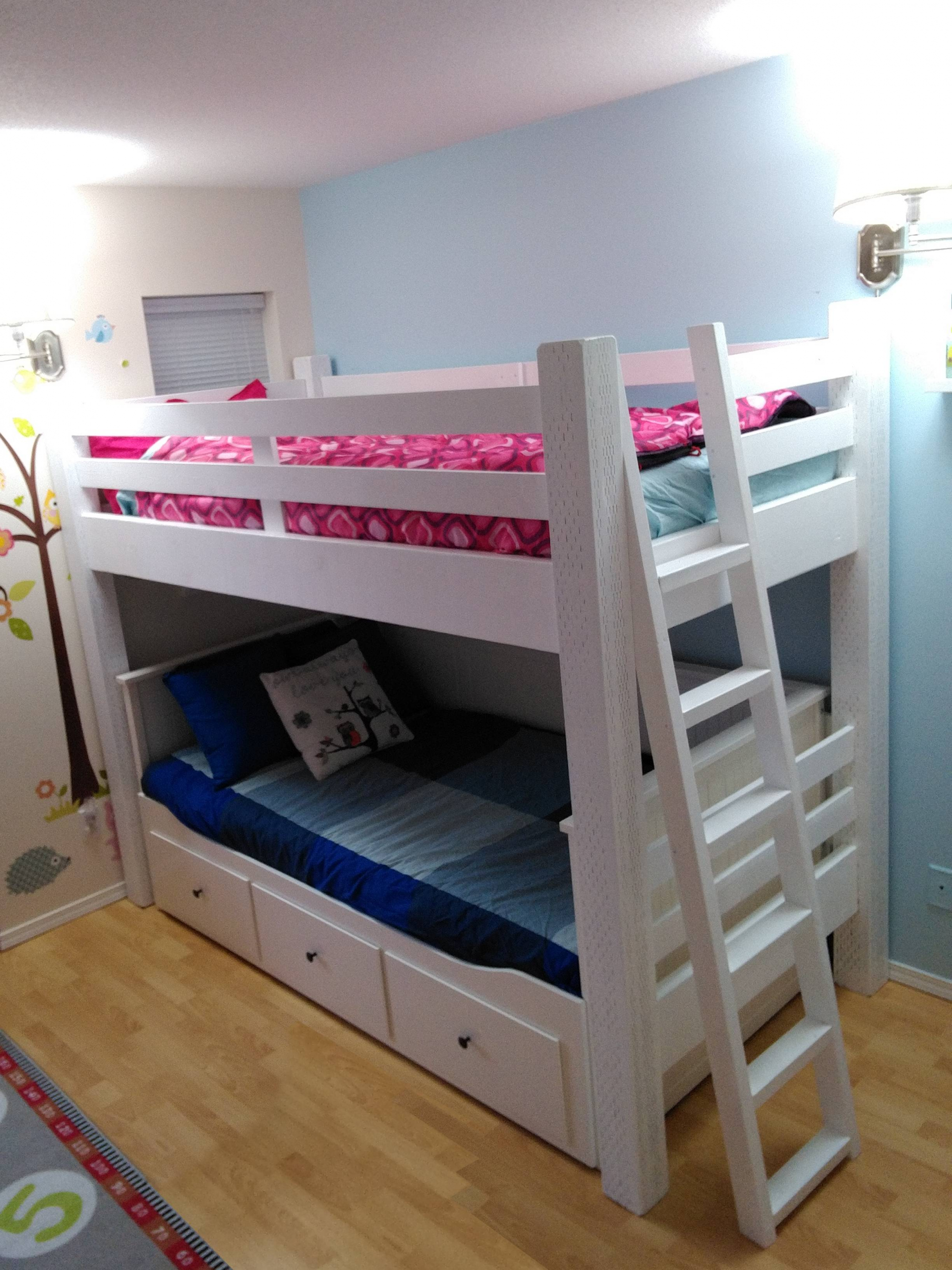 Loft Bed Awesome Custom Loft Bed Built to Wrap the Ikea Hemnes Daybed