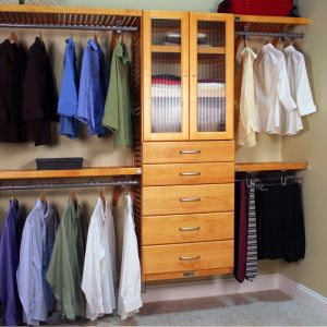 Mens Closet Awesome 16in Deep Deluxe organizer 5 Drawers with Doors 6 & 8in