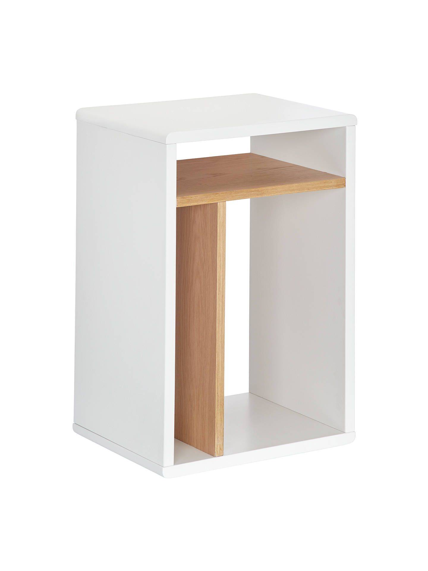 Narrow Bedside Table Unique House by John Lewis Bow Box Bedside Table White