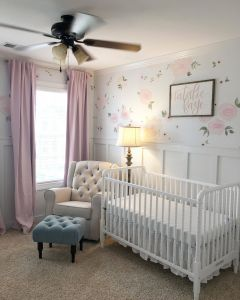 Nursery Ideas Best Of Baby Girl Nursery Floral Walls Floral Nursery Pink