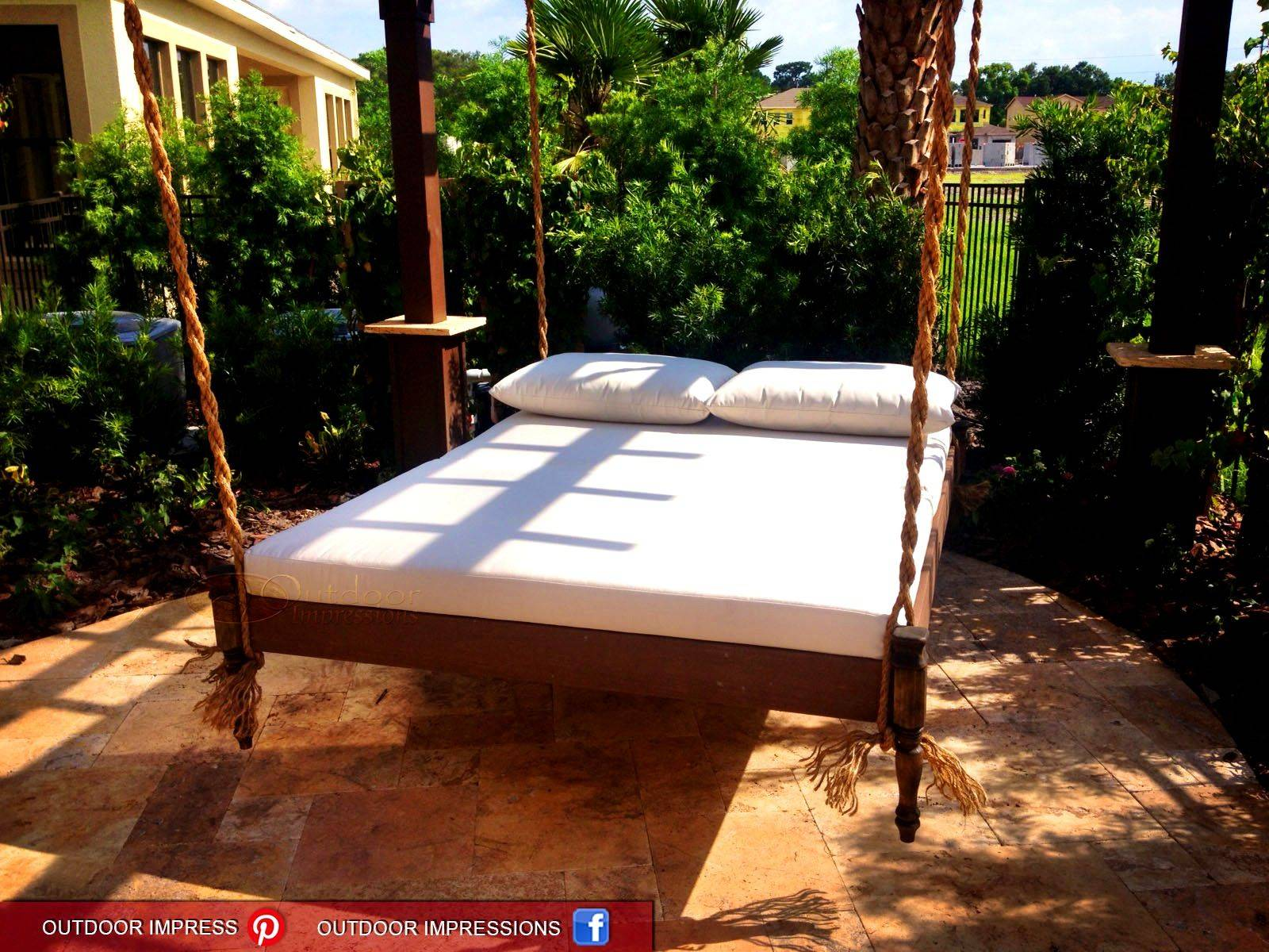 Outside Beds Beautiful Bedroom Archaicfair Swinging Bed Diy Pallet Plans Simple