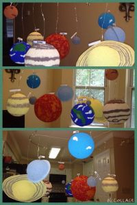Photo Hanging Wire Elegant solar System Project We Used Two Wire Coat Hangers to Make
