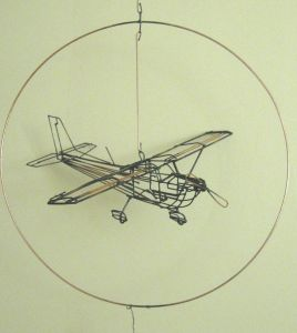 """Photo Hanging Wire Inspirational Wire Sculpture """"cessna"""""""