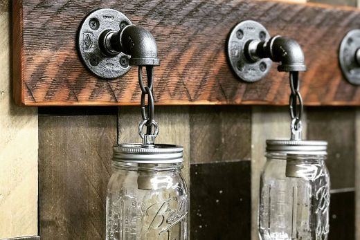 Primitive Bathroom Lighting Luxury Reclaimed Wood Mason Jar Light Fixture Bathroom Lights 3