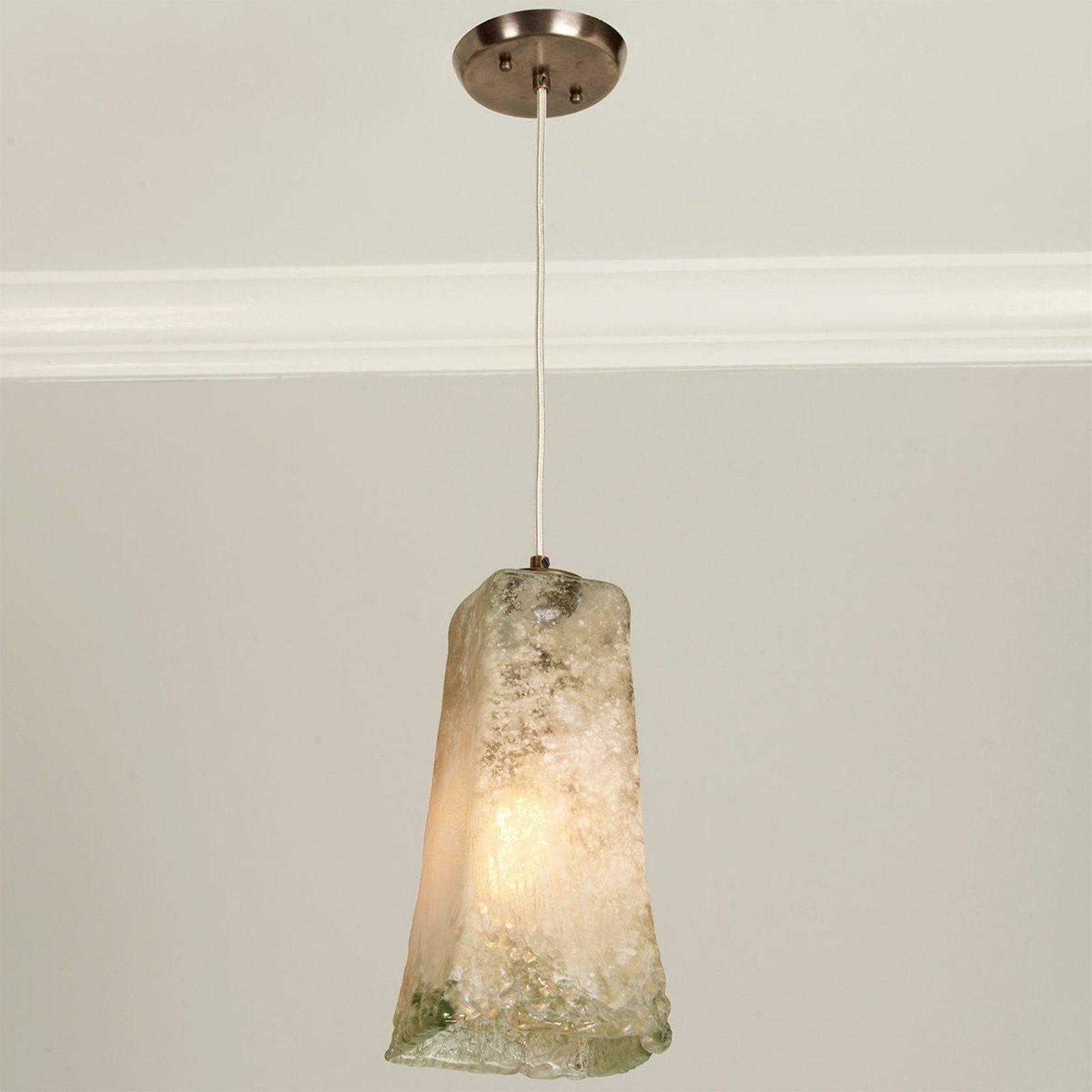 Recycled Glass Light Fixtures Luxury Recycled Glass Textured Pendant Lights