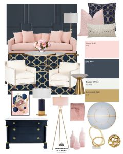Room Colors and Mood Unique E Of My Favorite Color Binations is Navy and Pink so