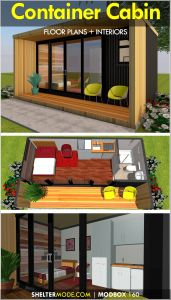 Shipping Containers Homes Awesome A Shipping Container Cabin Designed Using A Single 20 Foot