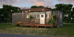 Shipping Containers Homes New the forrester This Unit Sleeps 4 with atv Storage Many