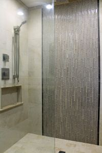 Shower Tile Ideas Luxury Master Shower Design Beige Wall Tile with Gray Glass