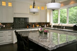 Slate Countertops Fresh Lennon Granite Pleted with Gray Subway Tiles and Cupboard