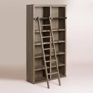 Stair Shelves Awesome Our Substantial Bookcase Makes An Impressive Display Unit